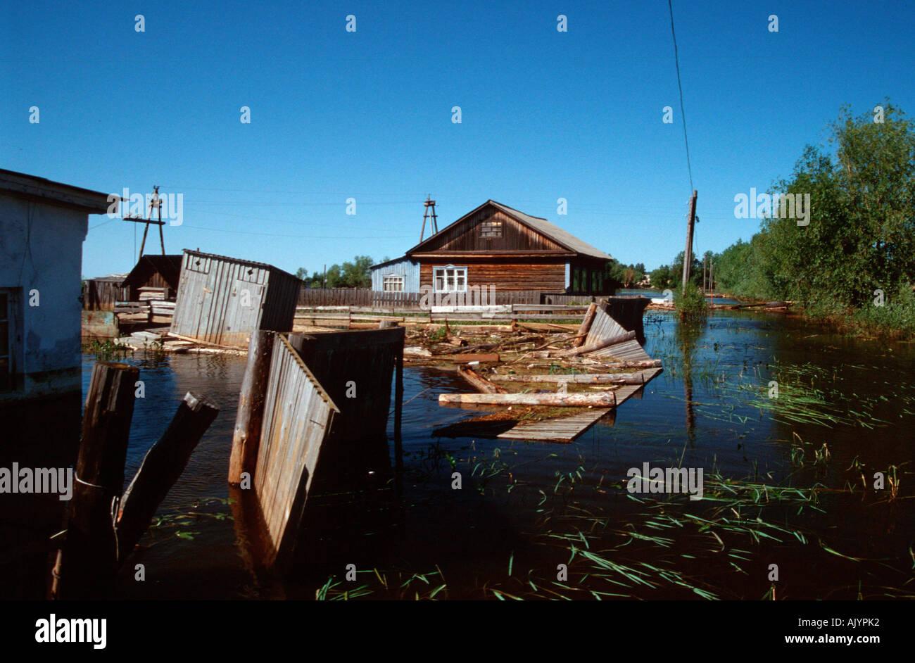 High water / Tobolsk / Hochwasser - Stock Image