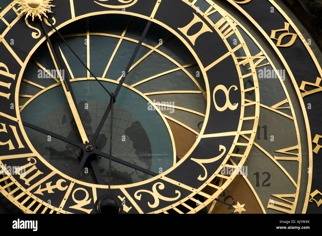 Astrological clock in Prague - Stock Image