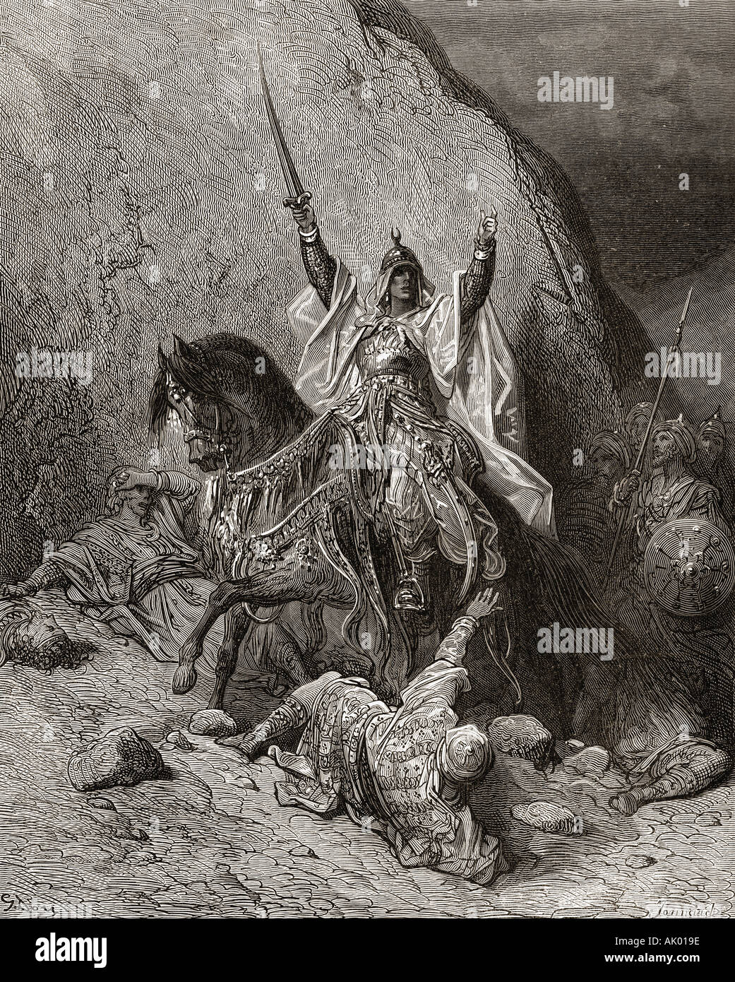 Saladin Salah ed Din Yusuf. An-Nasir Salah ad-Din Yusuf ibn Ayyub, aka Salah ad-Din or Saladin, 1137-1193. First sultan of Egypt and Syria - Stock Image