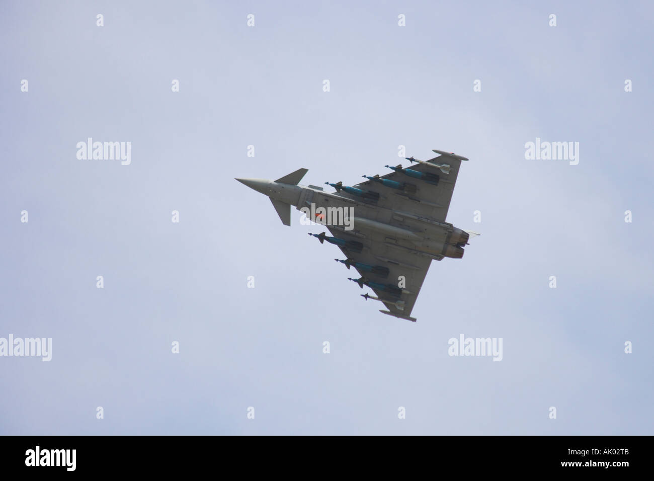RAF Typhoon Eurofighter making a slow pass - Stock Image