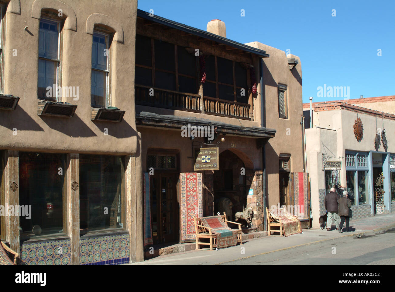 Furniture Store In Guadalupe Santa Fe New Mexico United States Stock