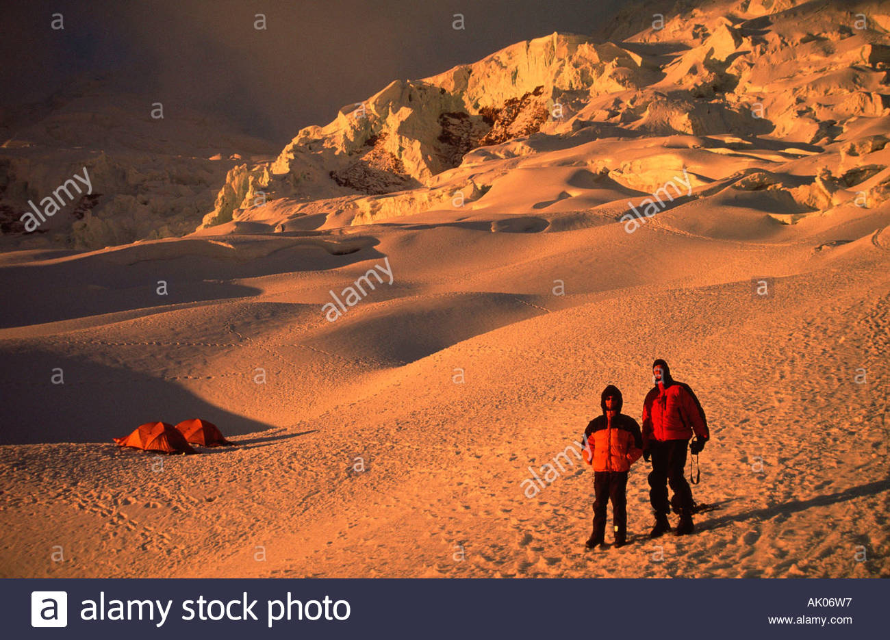 Mountaineer and Andes / Bergsteiger in den Anden Stock Photo