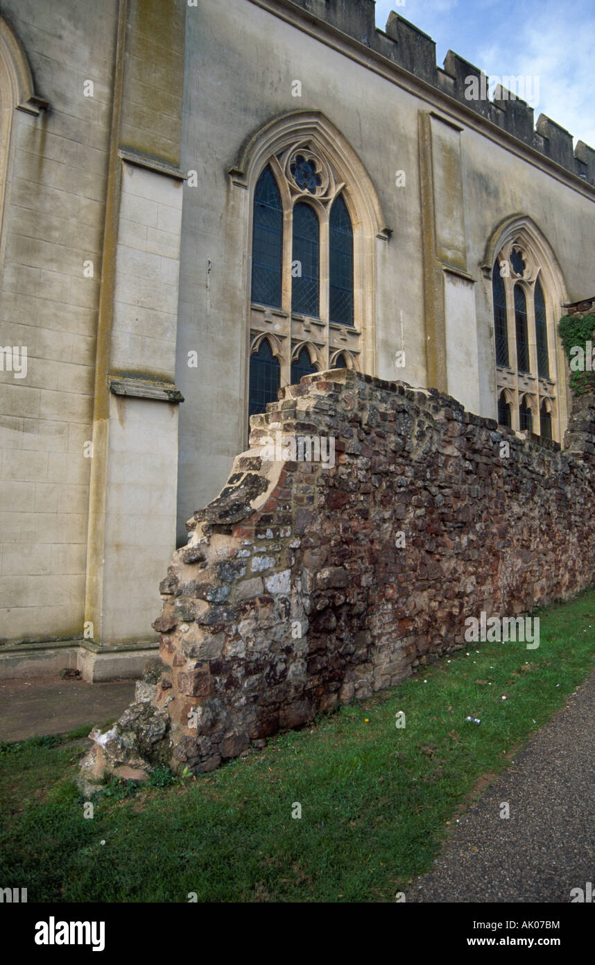 City Of South Gate >> Remnant Of Exeter City Wall Near Site Of South Gate Exeter