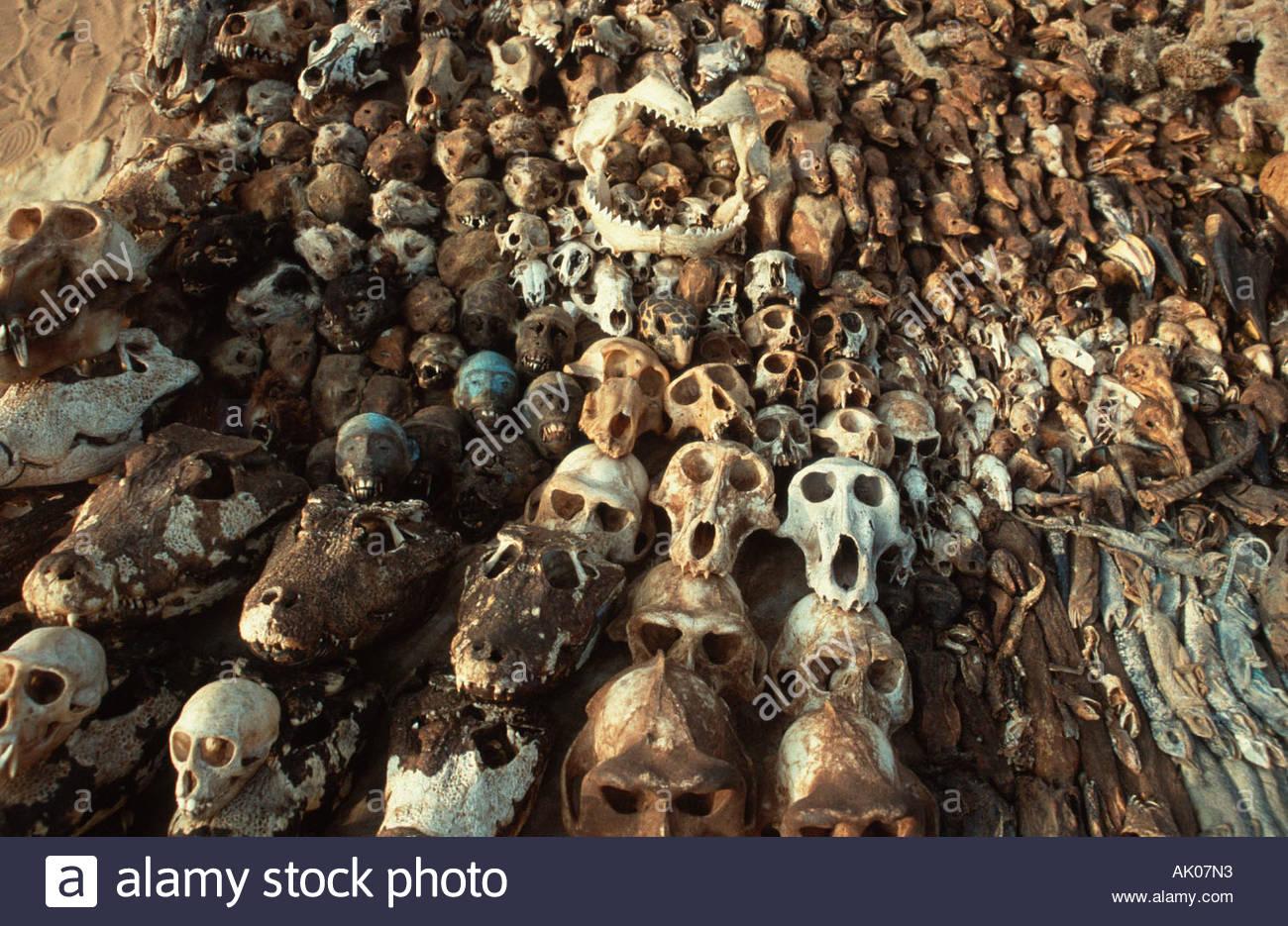 Voodoo market / Lome / Voodoo-Markt - Stock Image