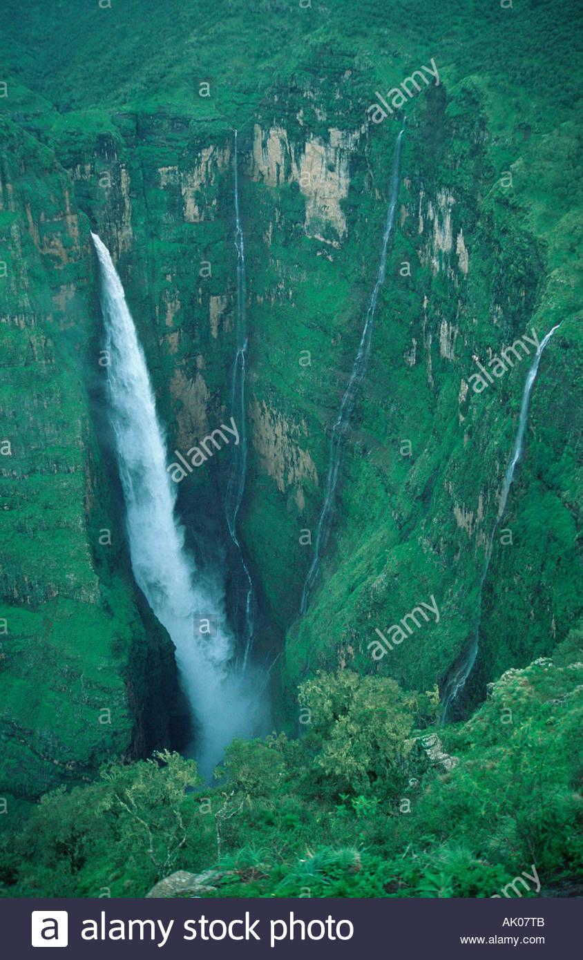 Waterfall / Wasserfall - Stock Image