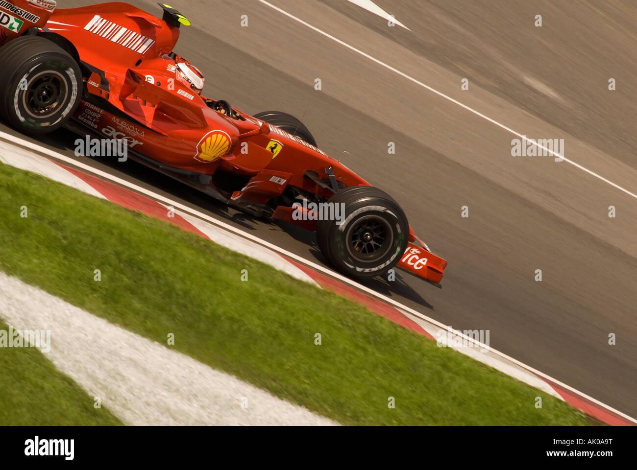 Formula 1 race car driver and World Champion Kimi Raikkonen from Finland at the Montreal 2007 Grand Prix. - Stock Image
