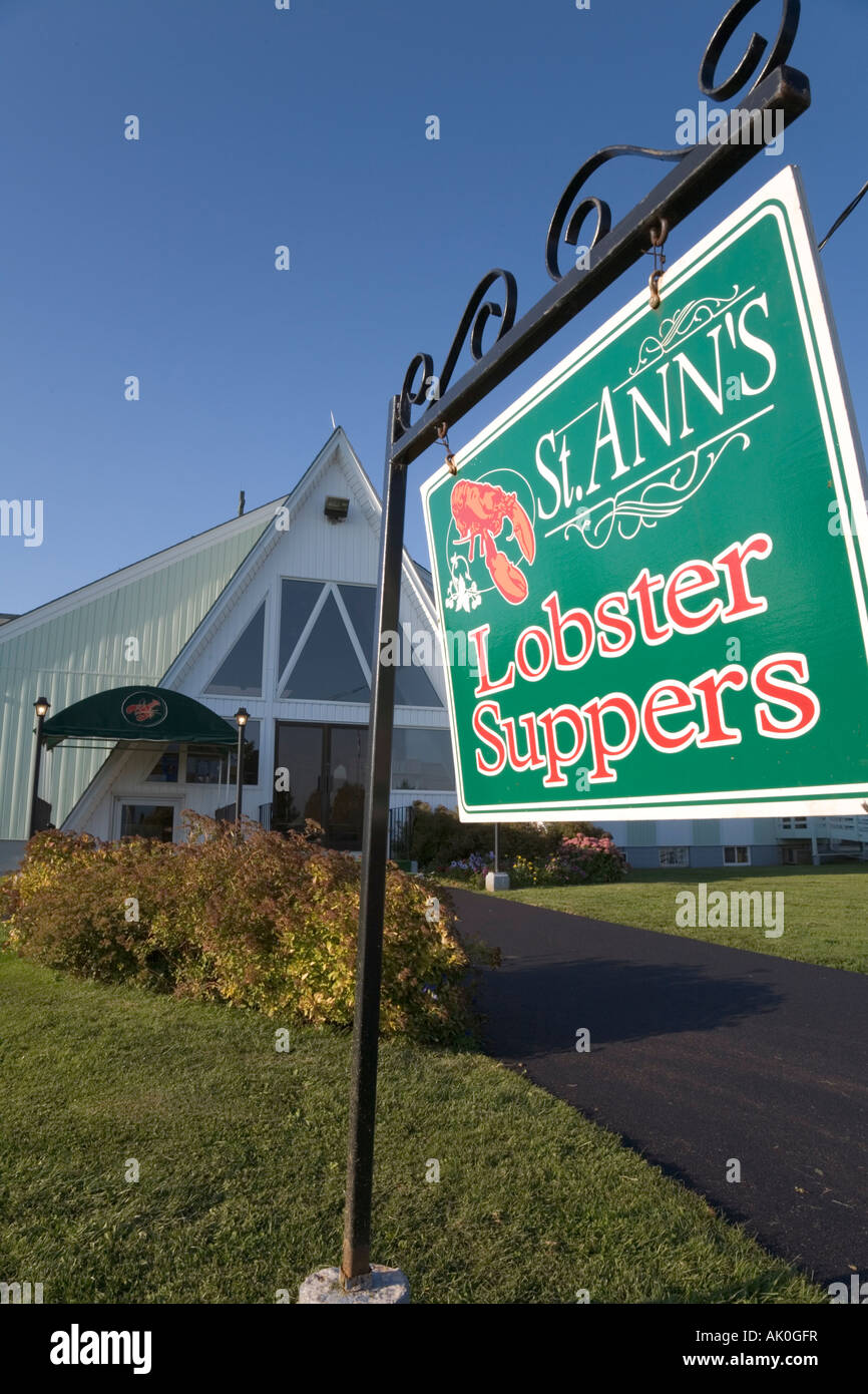 St Ann s Lobster Suppers New Glasgow Prince Edward Island Canada - Stock Image
