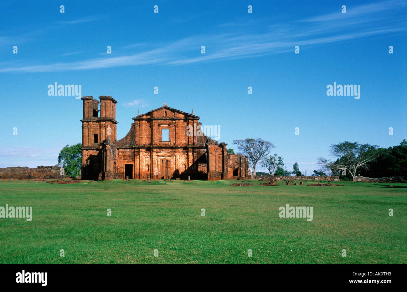 Jesuit mission of Sao Miguel das Missoes - Stock Image