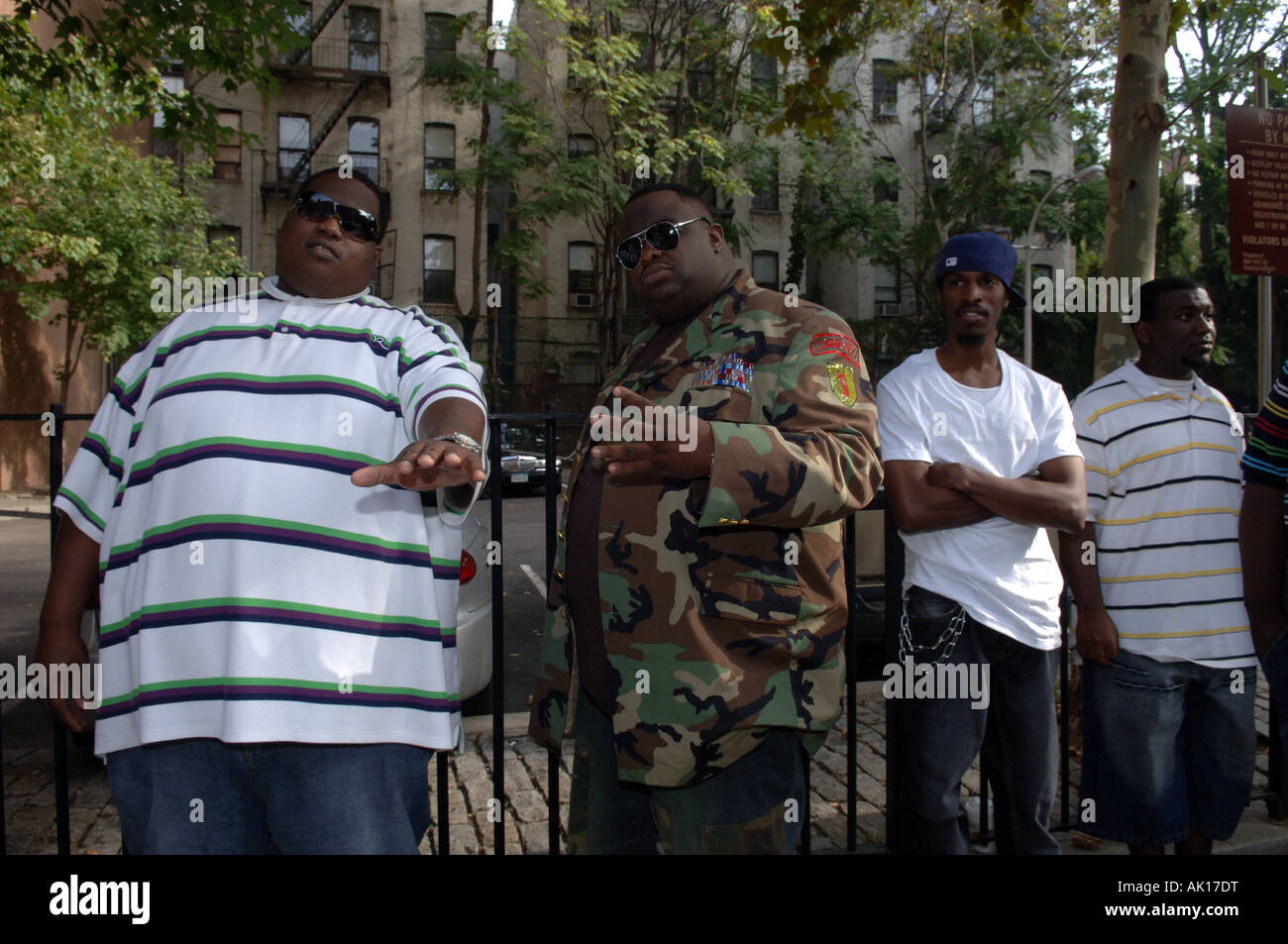 Professional and amateur actors line up for an open casting call for the roll of Biggie Smalls Stock Photo