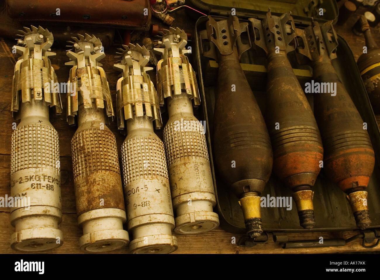 mortar shells - Stock Image
