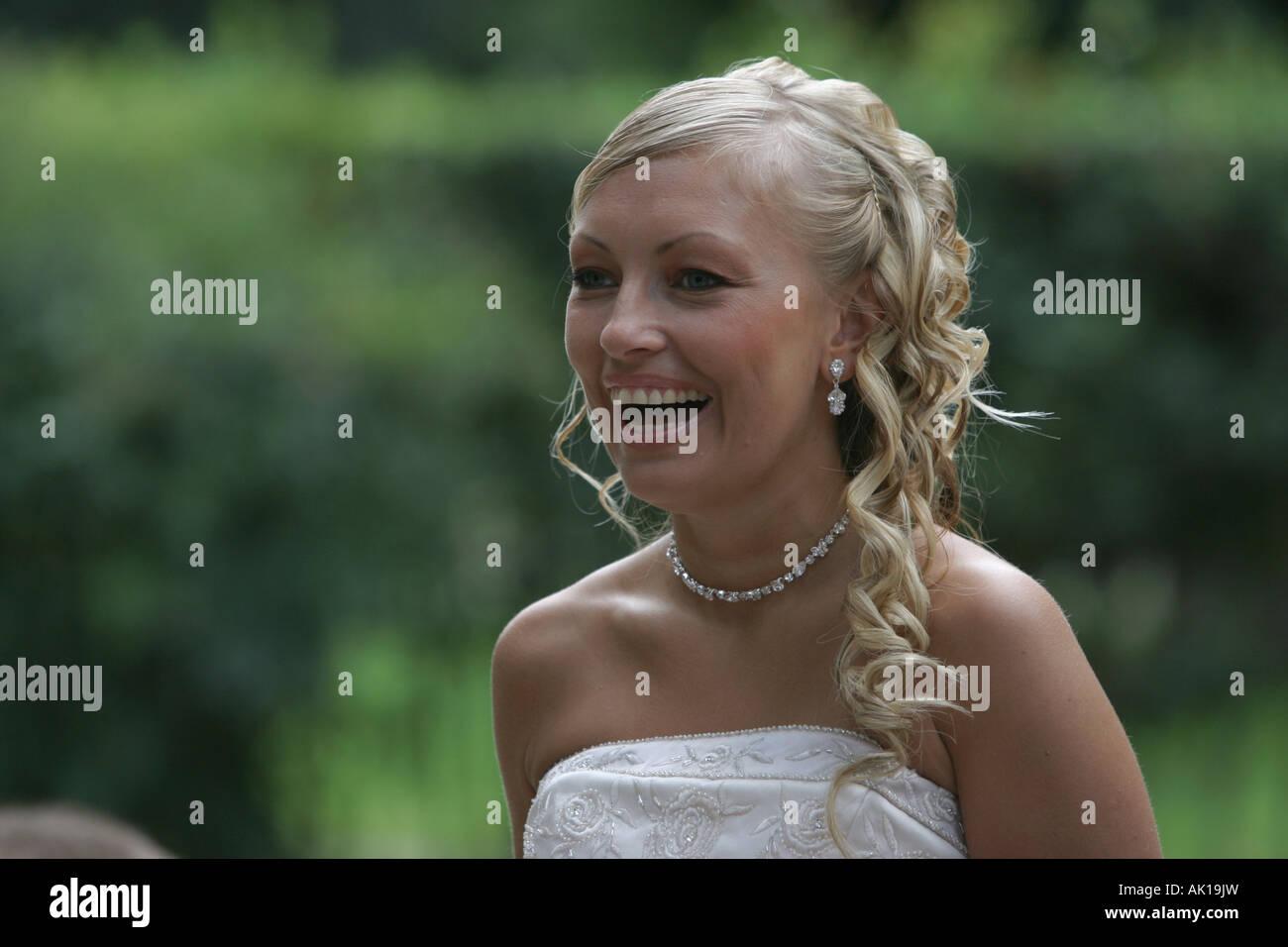 Bride portrait - Stock Image