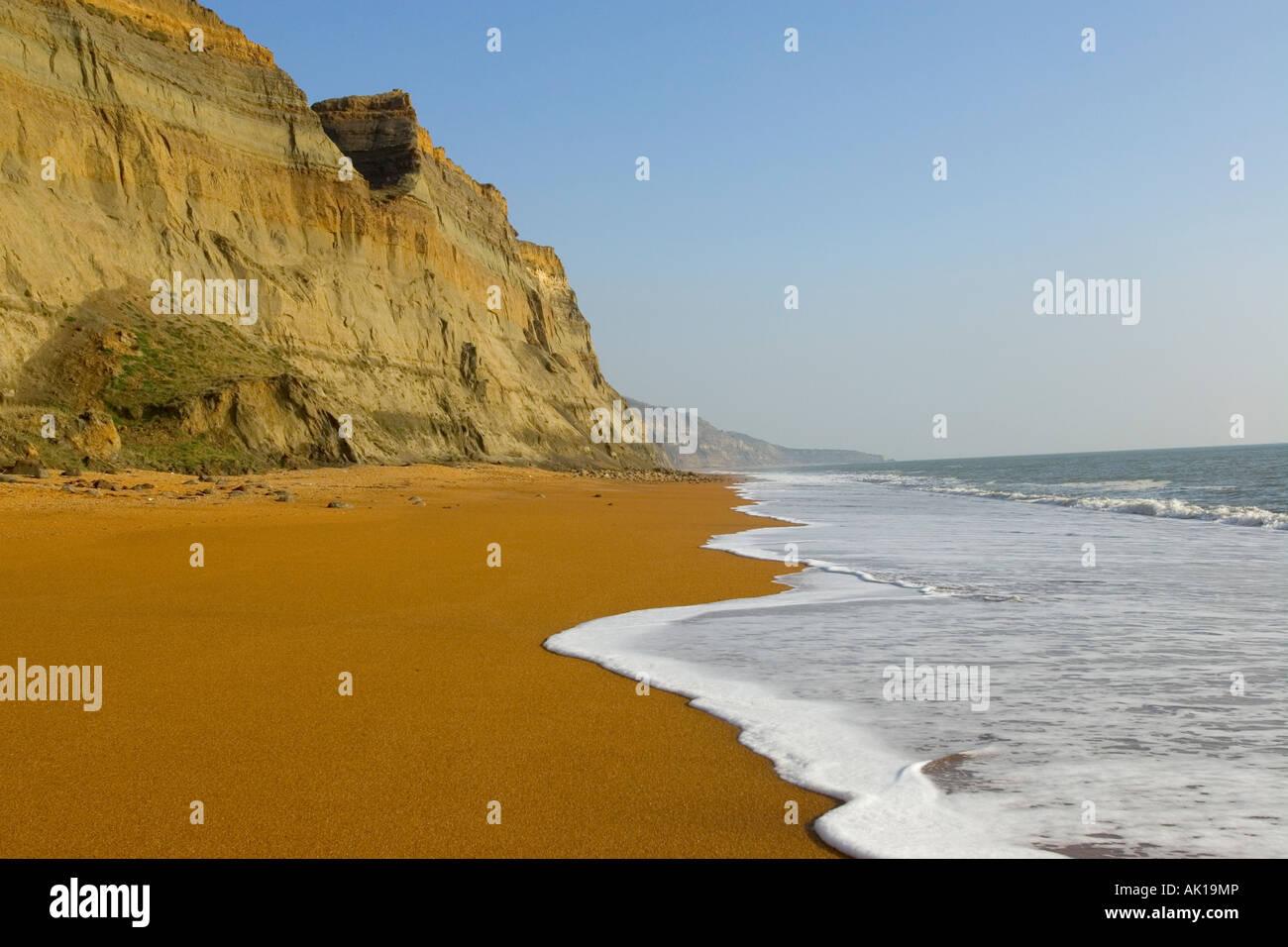 Chale Beach Isle of Wight England UK - Stock Image