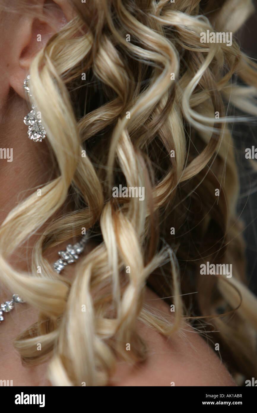 Hair detail - Stock Image