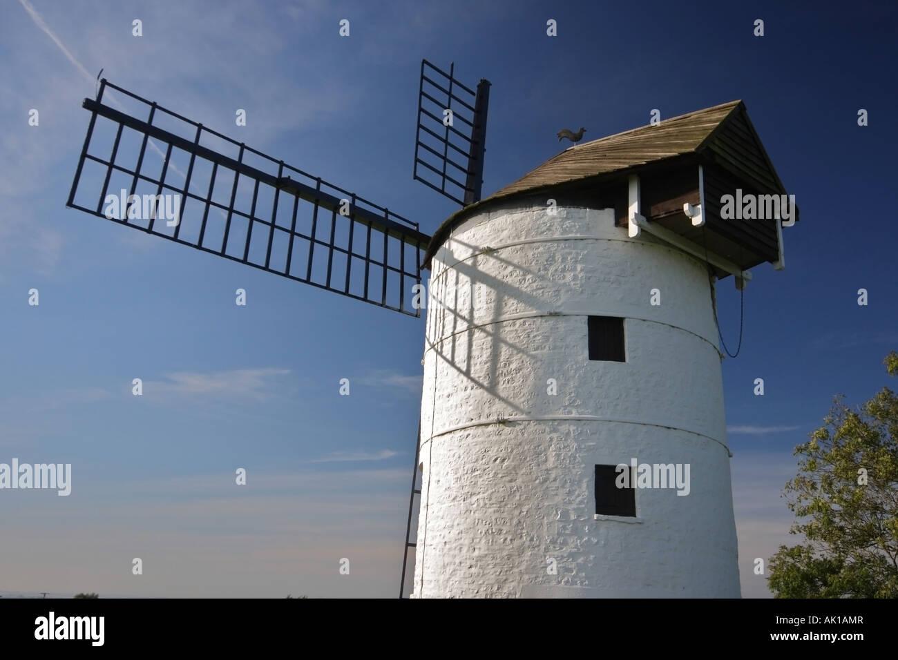Ashton Windmill at Chapel Allerton in Somerset - Stock Image