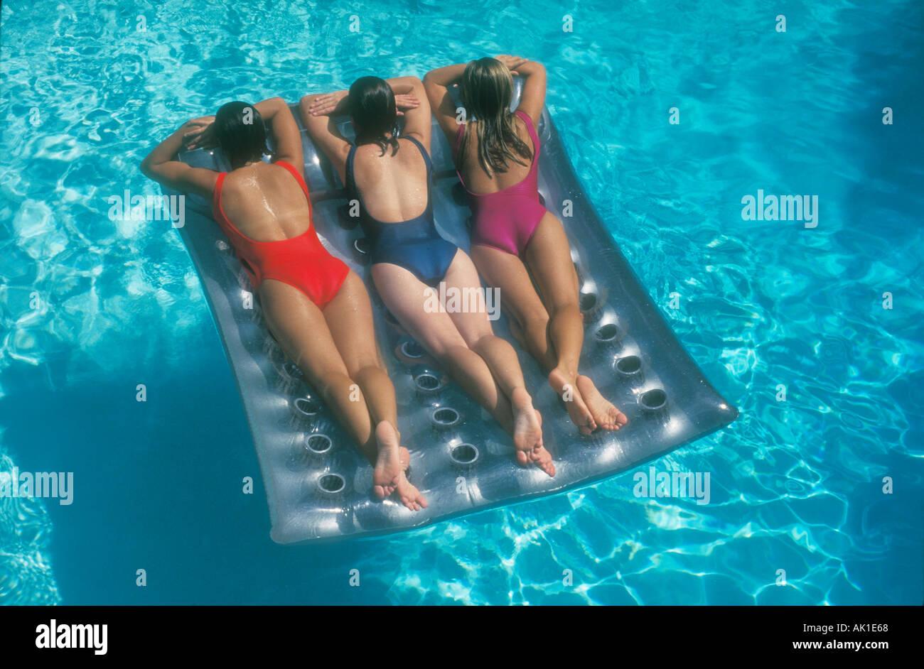 Girl teen swimmers