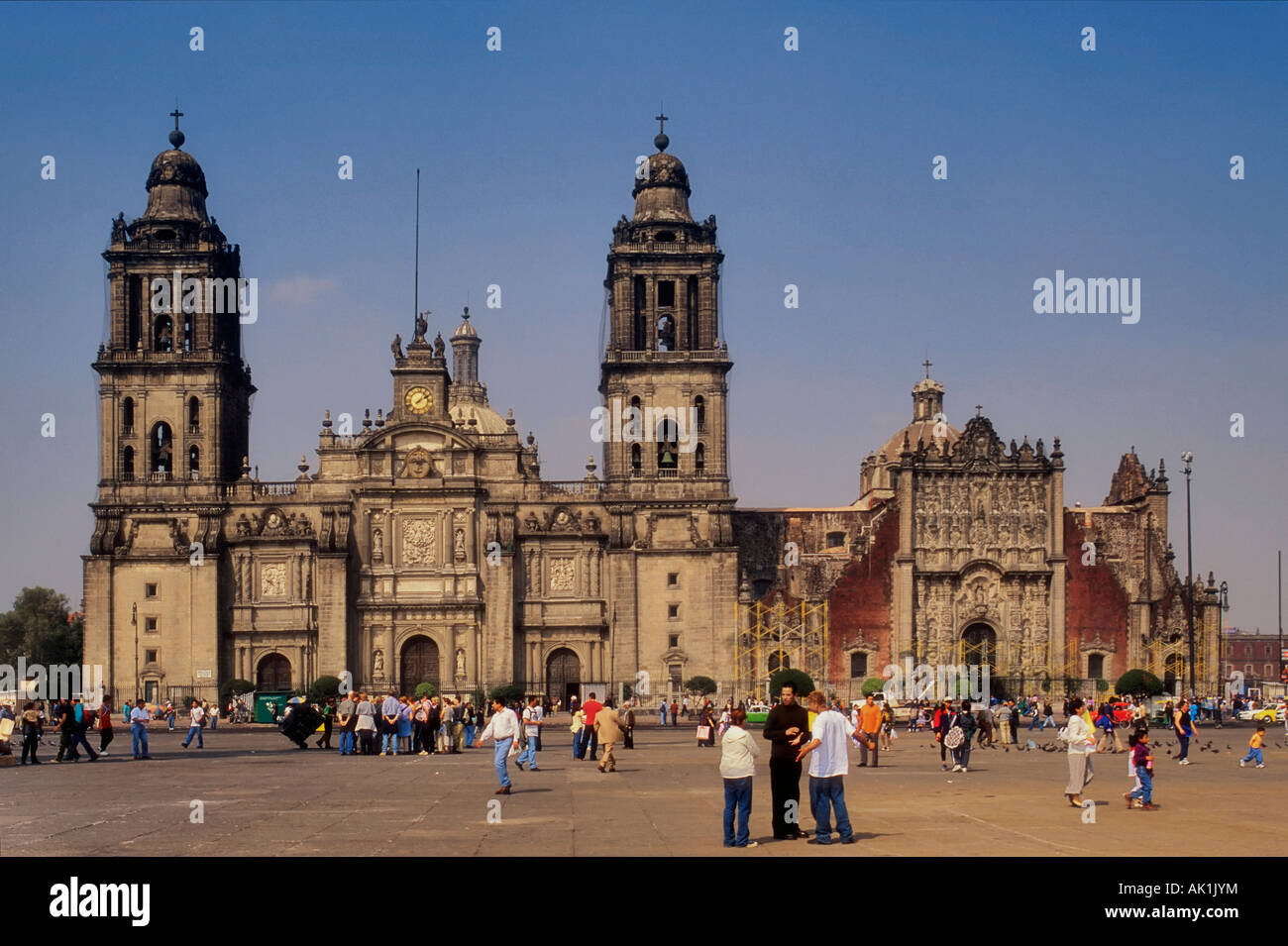 Catedral Metropolitana at Zocalo, Mexico City - Stock Image
