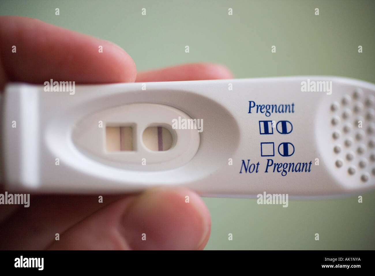 Home Pregnancy Test Positive Results Stock Photo Alamy