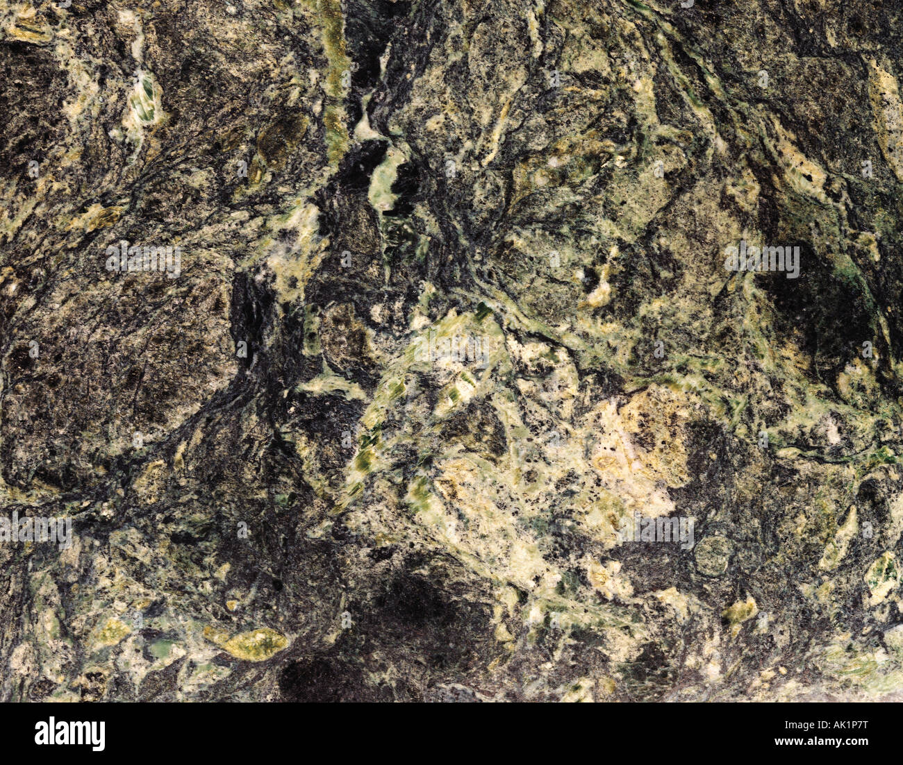 Still life of polished green marble surface. Stock Photo