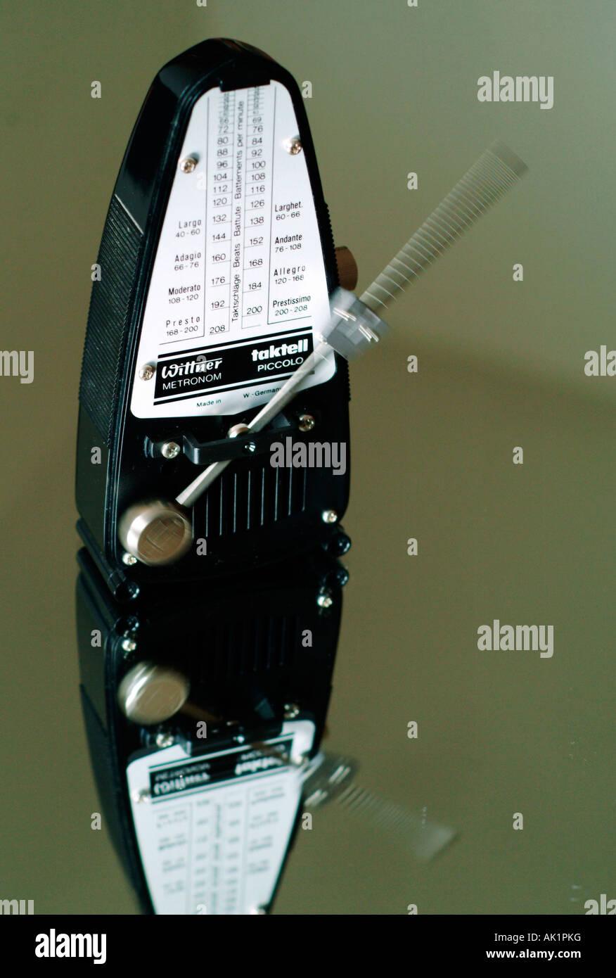 A moving metronome - Stock Image