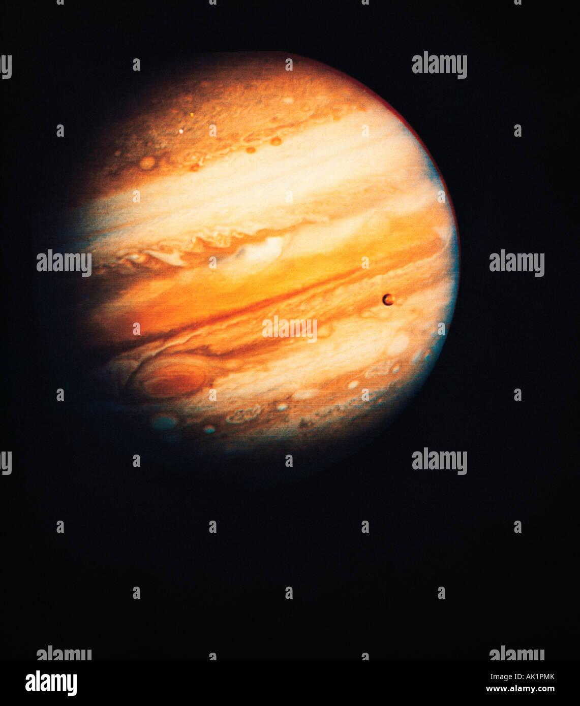 Planet Jupiter. NASA Voyager 1 photo. - Stock Image