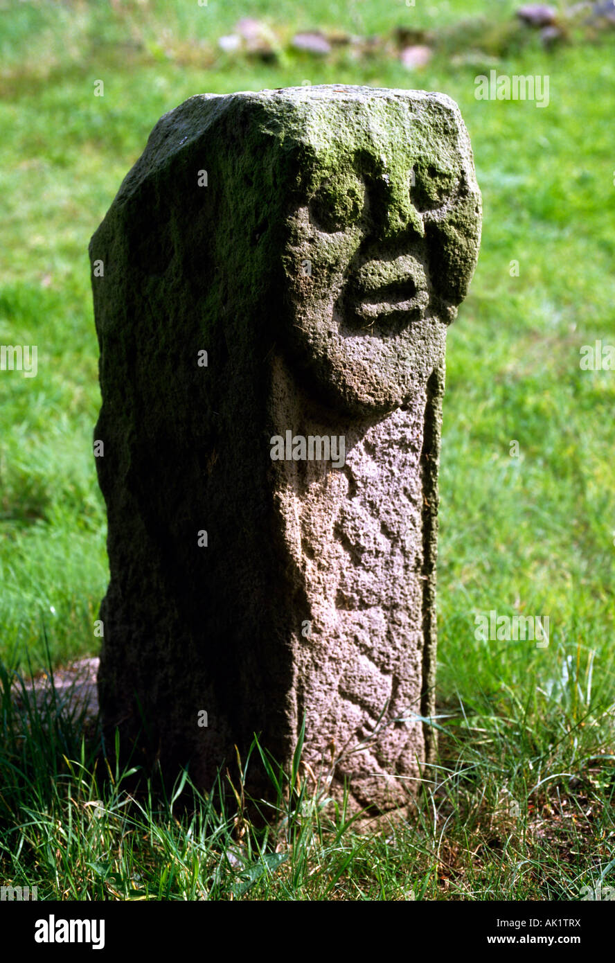 Celtic Archaeology, Bishop's Head, Killadeas, Co Fermanagh, Ireland - Stock Image