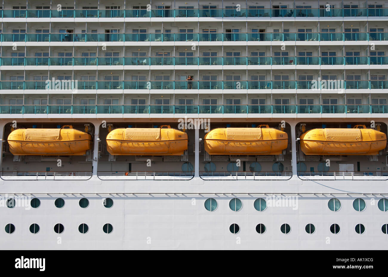 Cruise ship 'Navigator of the seas' visiting Las Palmas, Gran Canaria. - Stock Image