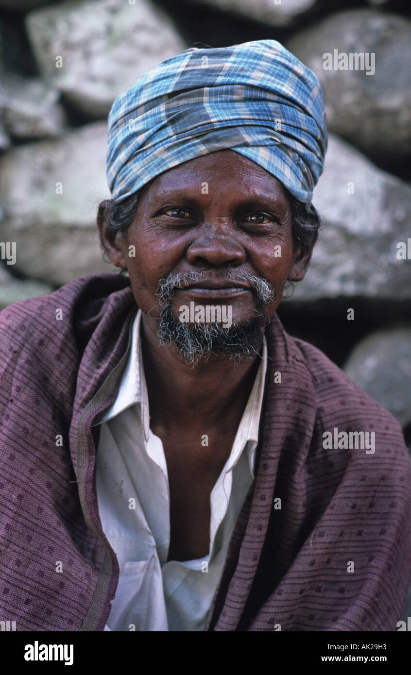 Portrait of an elderly Indian man Manali Himachal Pradesh India - Stock Image