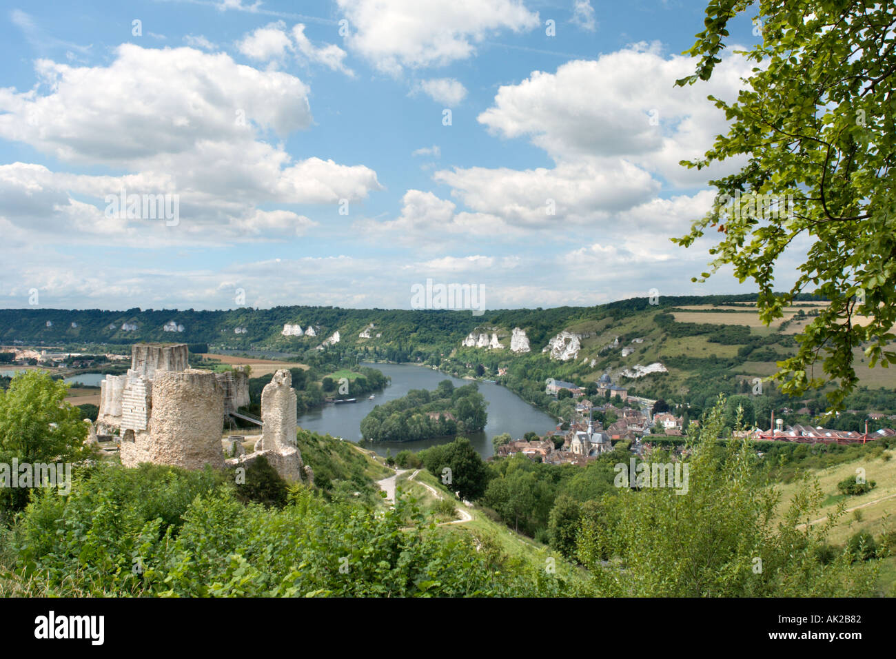 Chateau Gaillard, Les Andelys, Normandy ,France - Stock Image