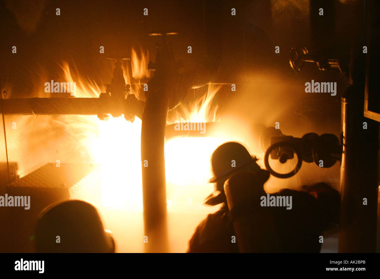 Firebrigade in action - Stock Image