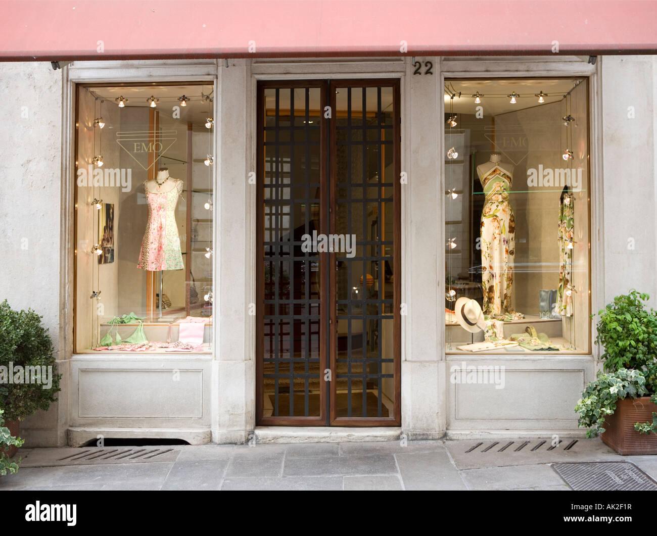 Exclusive shop display Vicenza Veneto Italy - Stock Image