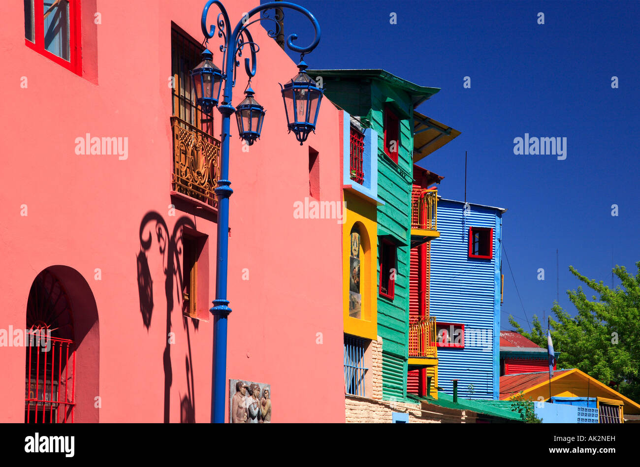 """""""Caminito street"""" lateral view, """"La Boca"""" Town, Buenos Aires, Argentina. - Stock Image"""