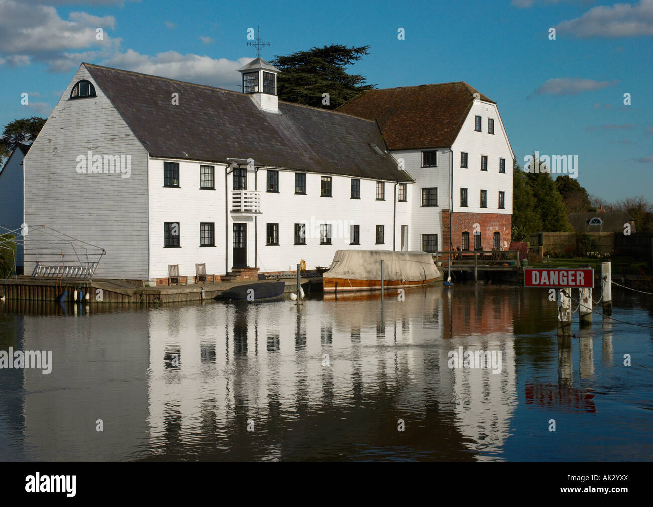This is the former watermill now Apartments at Mill End, near Hambleden, Buckinghamshire, England, UK - Stock Image