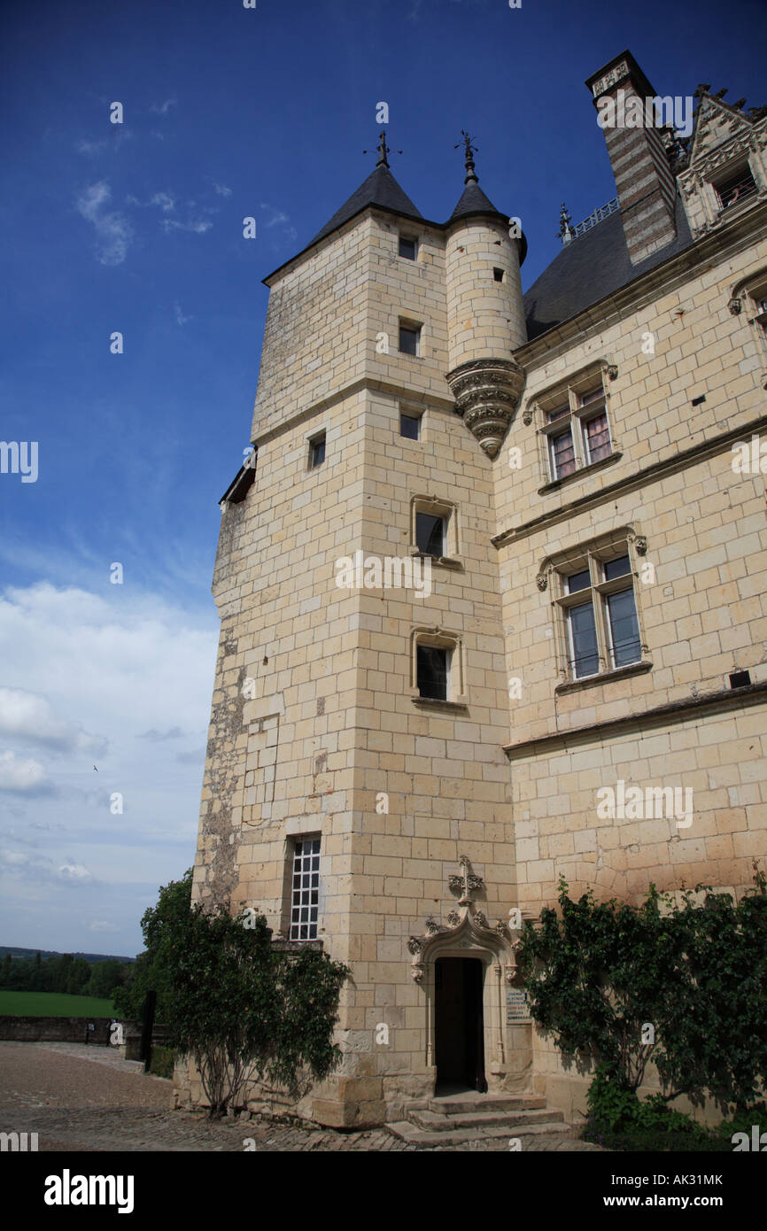 The Chemin de Ronde or Sleeping Beauty Tower Château d Ussé in the Indre et Loire Centre France - Stock Image