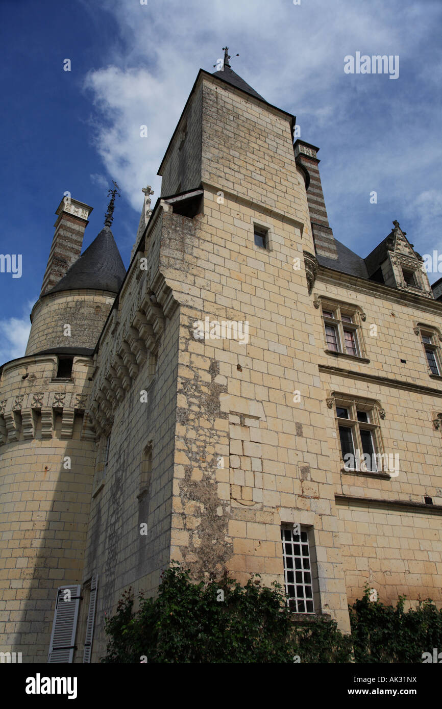 The Sleeping beauty tower at the Château d Ussé - Stock Image