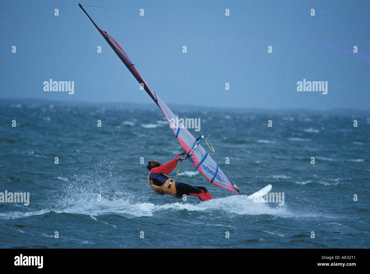 Person windsurfing L3 Stock Photo