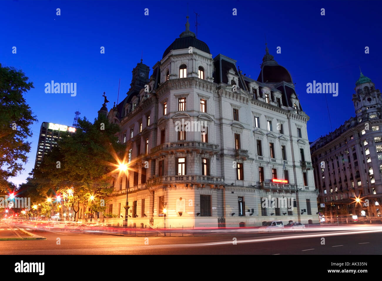 City Government Palace facade view at dusk,  Buenos Aires, Argentina Stock Photo