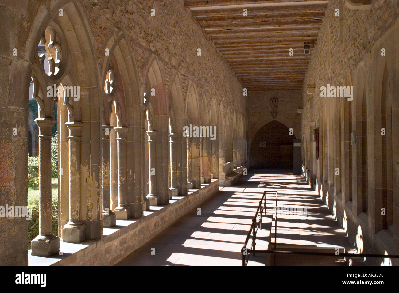 Cloisters in  the Musee d' Unterlinden, Colmar, Alsace, France Stock Photo