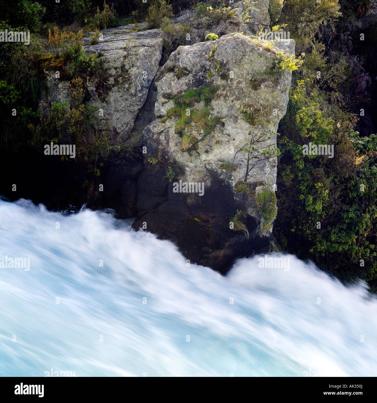 Huka Falls, Taupo, New Zealand - Stock Image