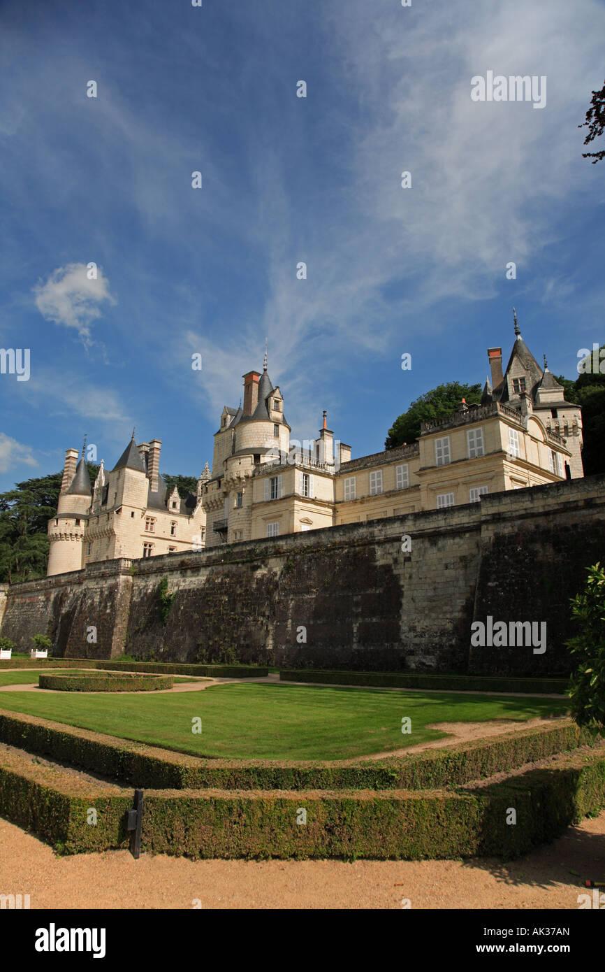 The Château d'Ussé in the Indre et Loire Centre France - Stock Image