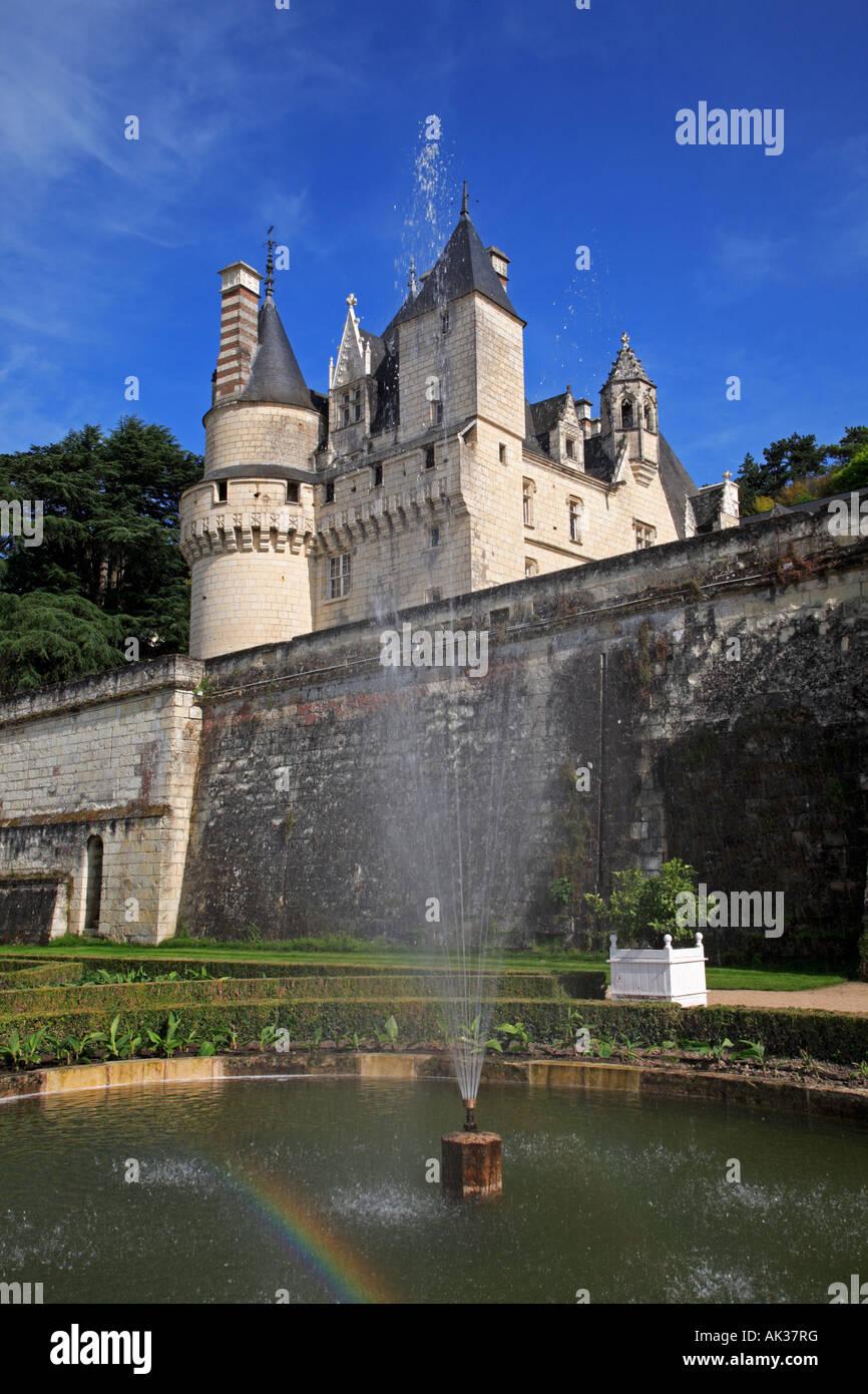 The Garden and Château d'Ussé in the Indre et Loire Centre France - Stock Image