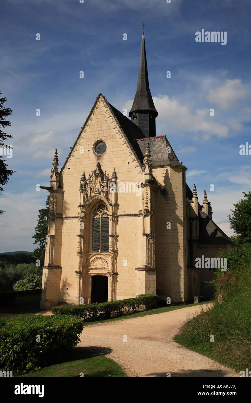 The Chapel at the Château d'Ussé - Stock Image