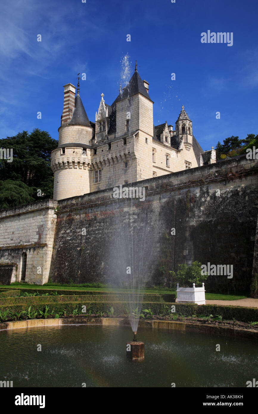 The Garden and Château d Ussé in the Indre et Loire Centre France - Stock Image
