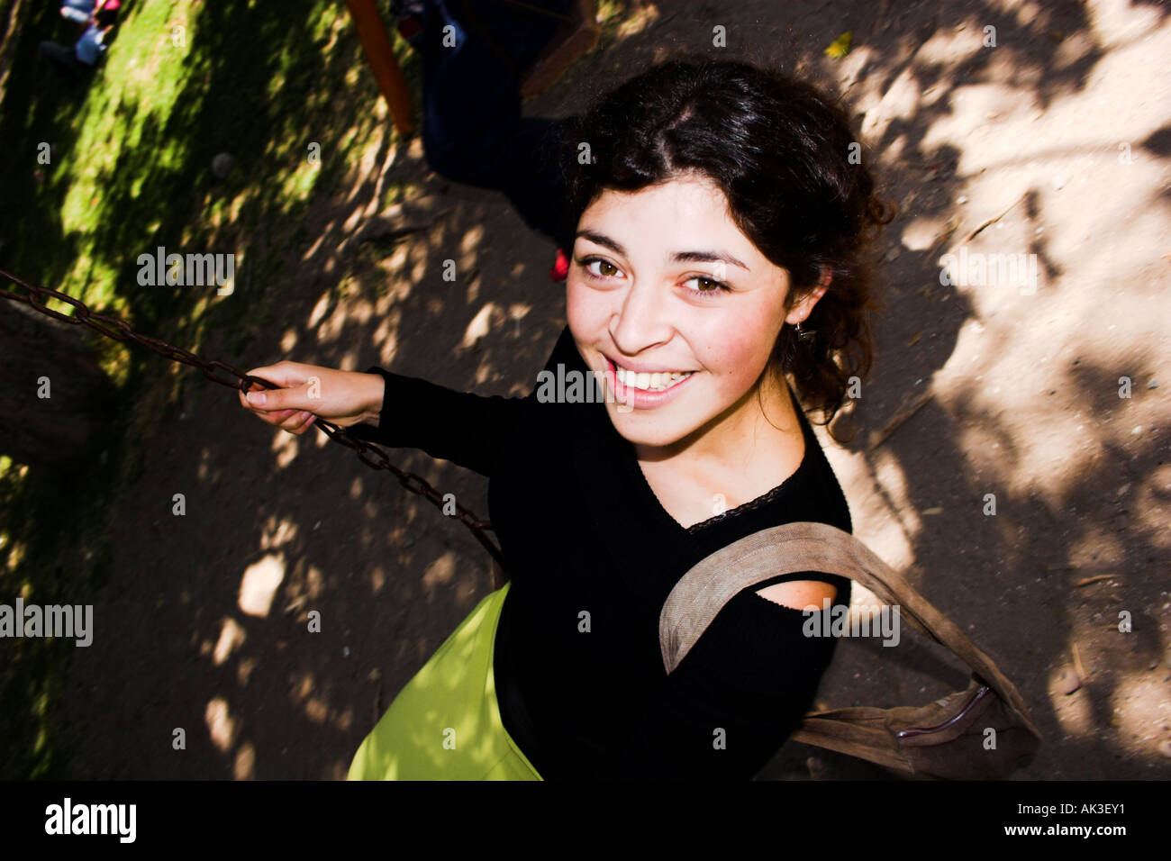 Fun on the swing Stock Photo