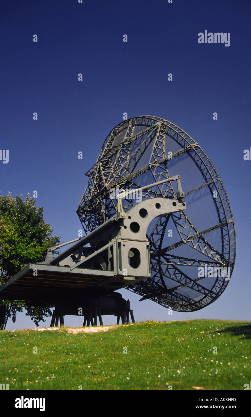 Radar dish aerial Stock Photo