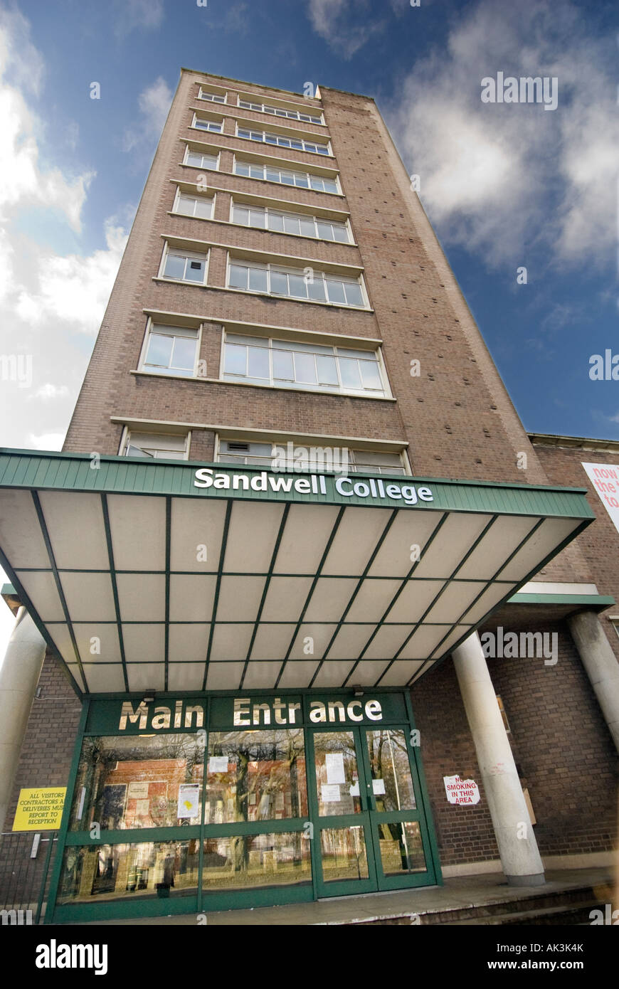 sandwell college in west bromwich for sixth form and night school courses - Stock Image
