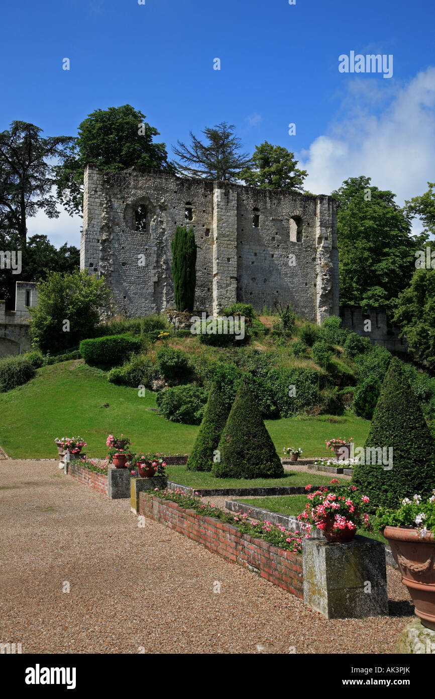 Donjon at the Château at Langeais - Stock Image