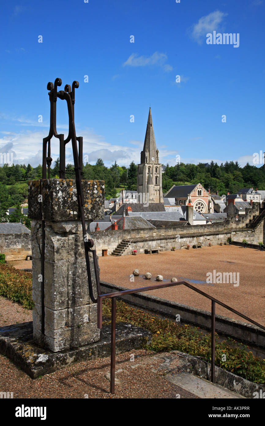 Rooftops of Château at Langeais in the Indre et Loire Centre France - Stock Image