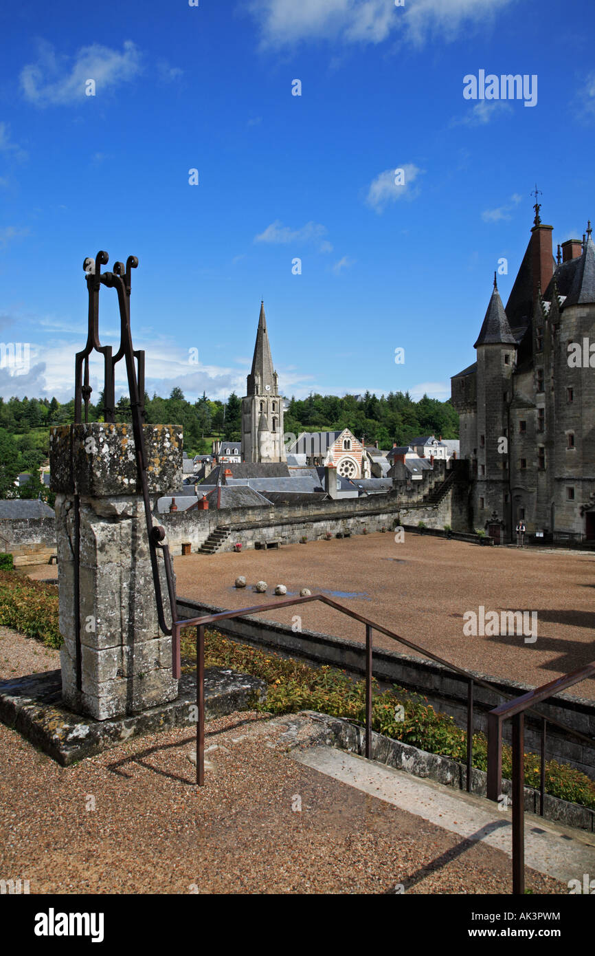 View from the garden of the Château at Langeais - Stock Image