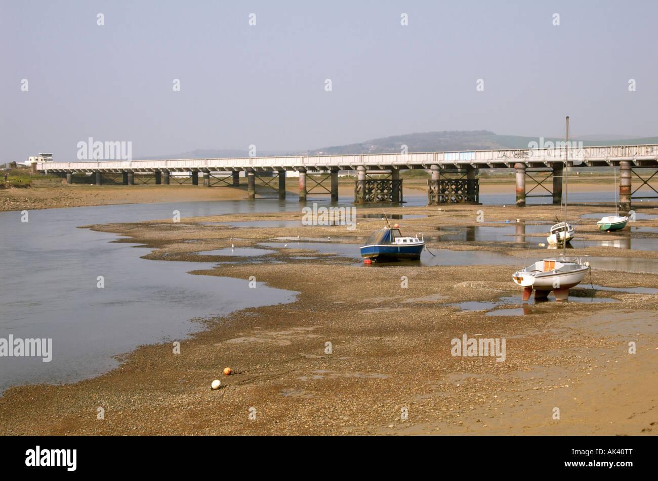 The river Adur, shoreham. Stock Photo
