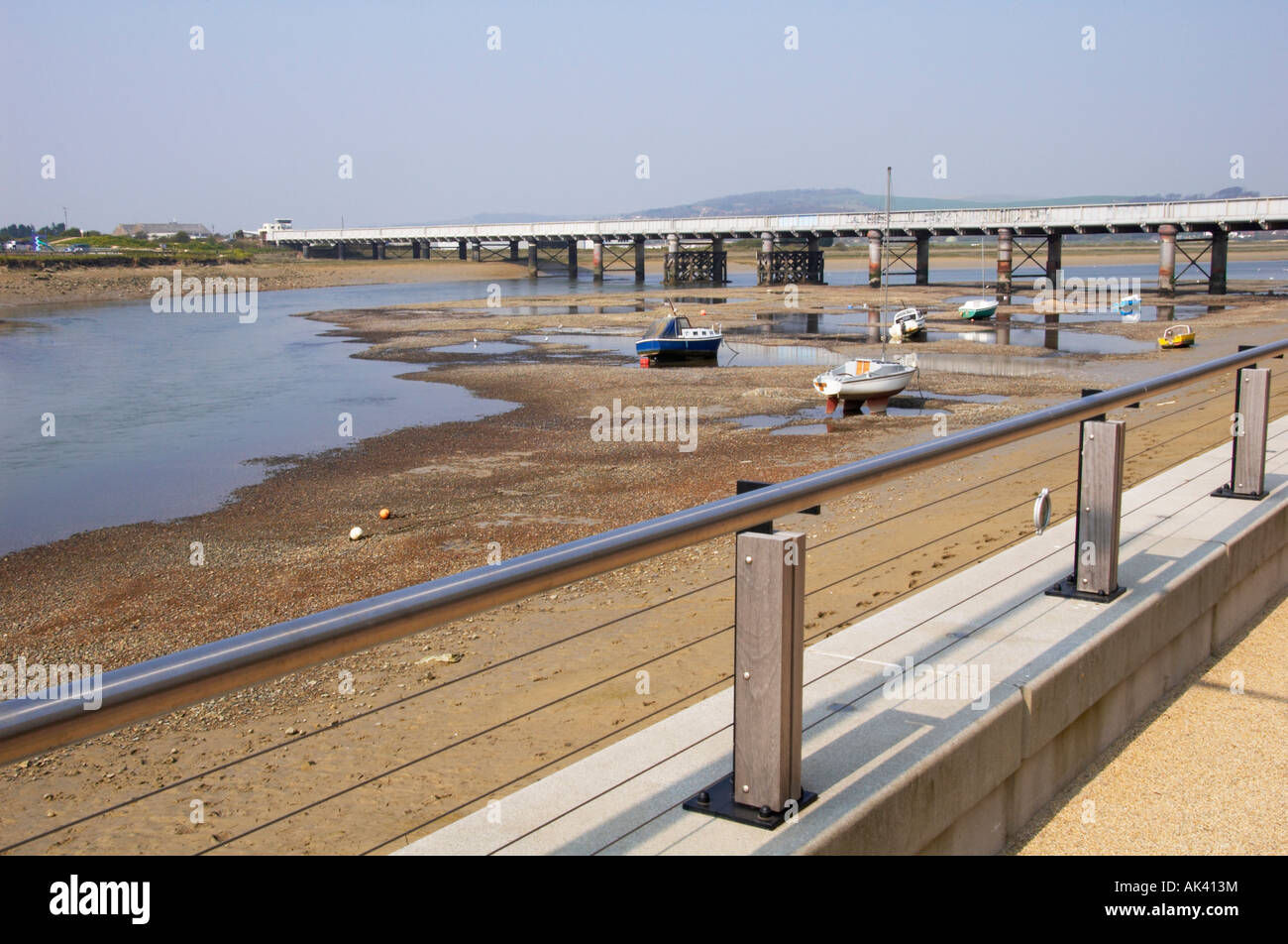 The view of the river Adur from Shoreham Ropetackle housing development Stock Photo